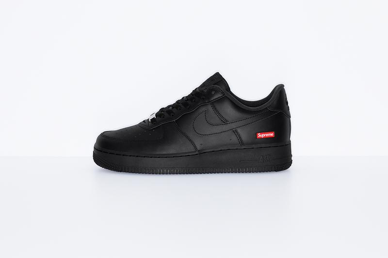 Supreme x Nike Air Force 1 Low Release Info Uptowns Shoes Sneakers footwear Kicks collaborations Box Logo Bogo