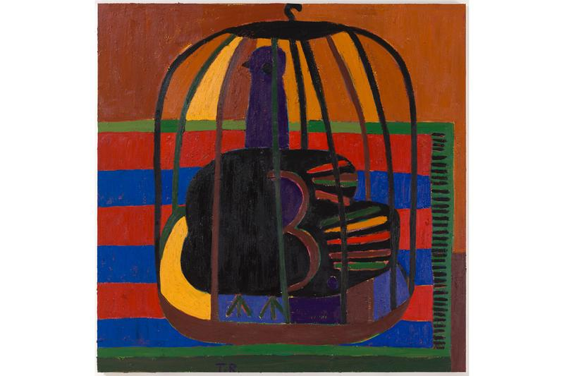 "Tal R ""Home Alone"" Exhibition Tim Van Laere Gallery Paintings Works on Paper Birds Cages Still Lifes Figures"