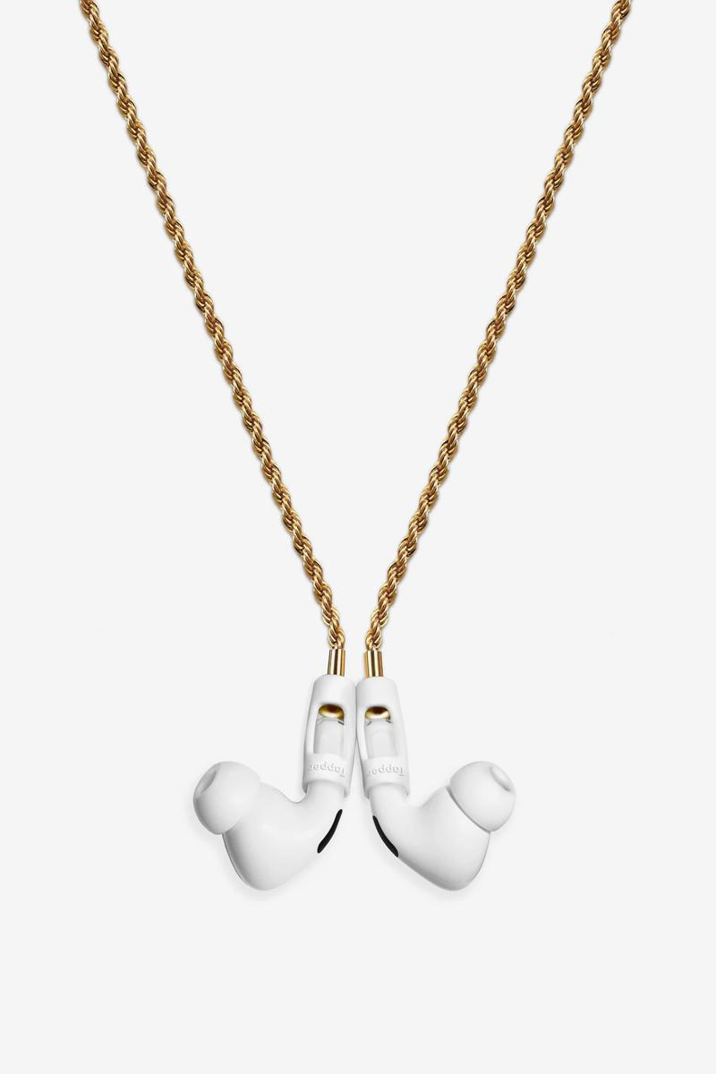 Tapper 18K Gold Plated 925 Silver Plated Hematite Black Plated AirPods Rope Chain Release Info Apple
