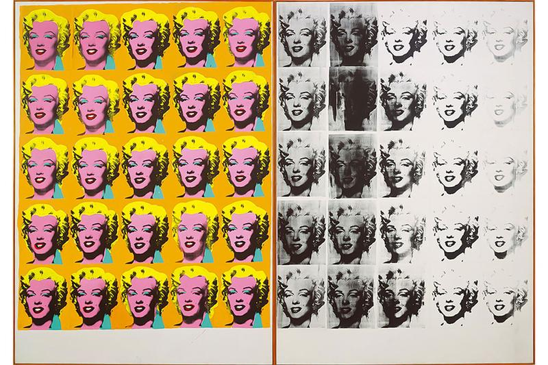 Andy Warhol Marilyn Monroe Silkscreen Painting