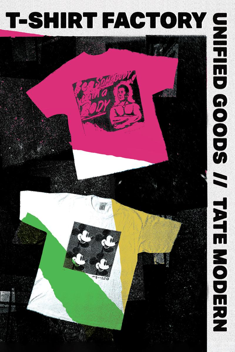 Tate Modern Art Museum Merchandise Unified Goods Vintage Andy Warhol Collection Collaboration Retrospective