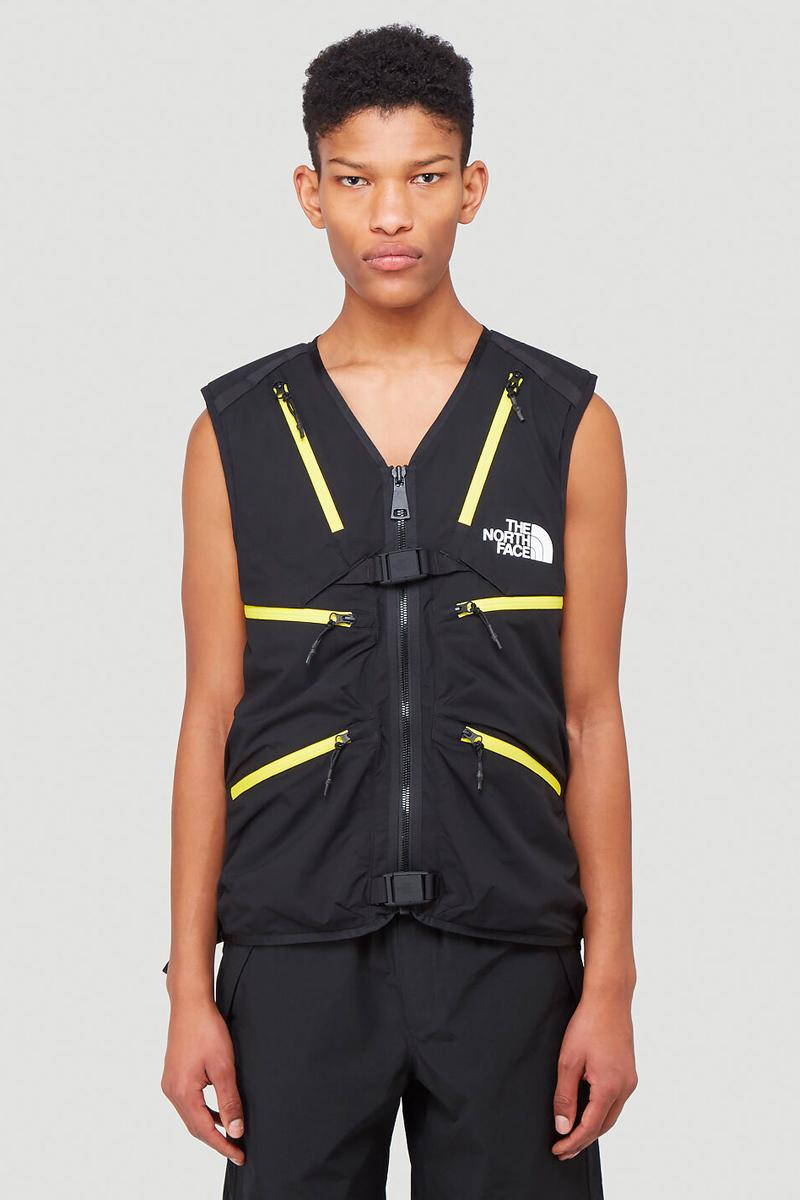 The North Face Black Series Vest mounatin Black yellow menswear streetwear technical functional utility outdoor running trekking hiking trail spring summer 2020 collection waterproof
