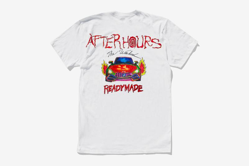 The Weeknd READYMADE After Hours Capsule Collection Release T shirt long short sleeve black white