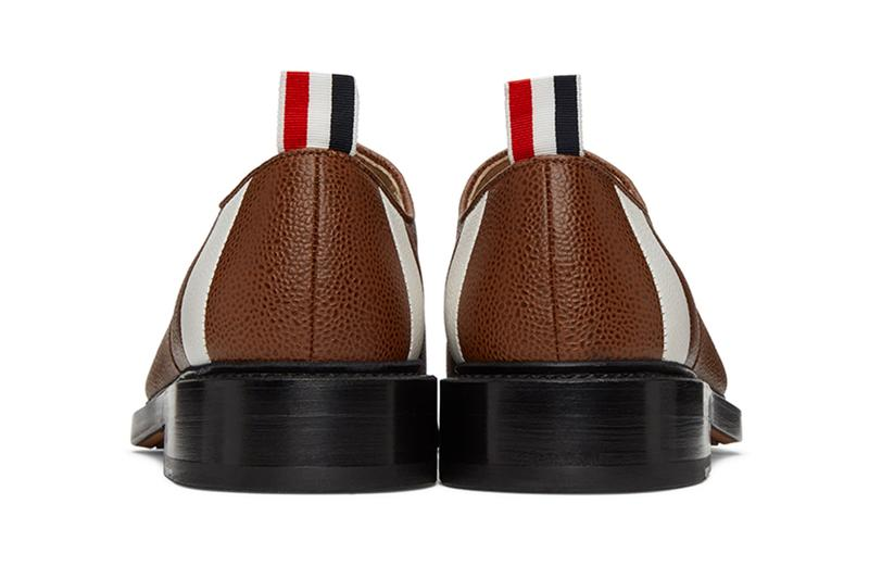 Thom Browne Football Oxford and Yellow Flannel Slip-On Release  designer loafers sports football tennis leather footwear sneakers shoes trainers