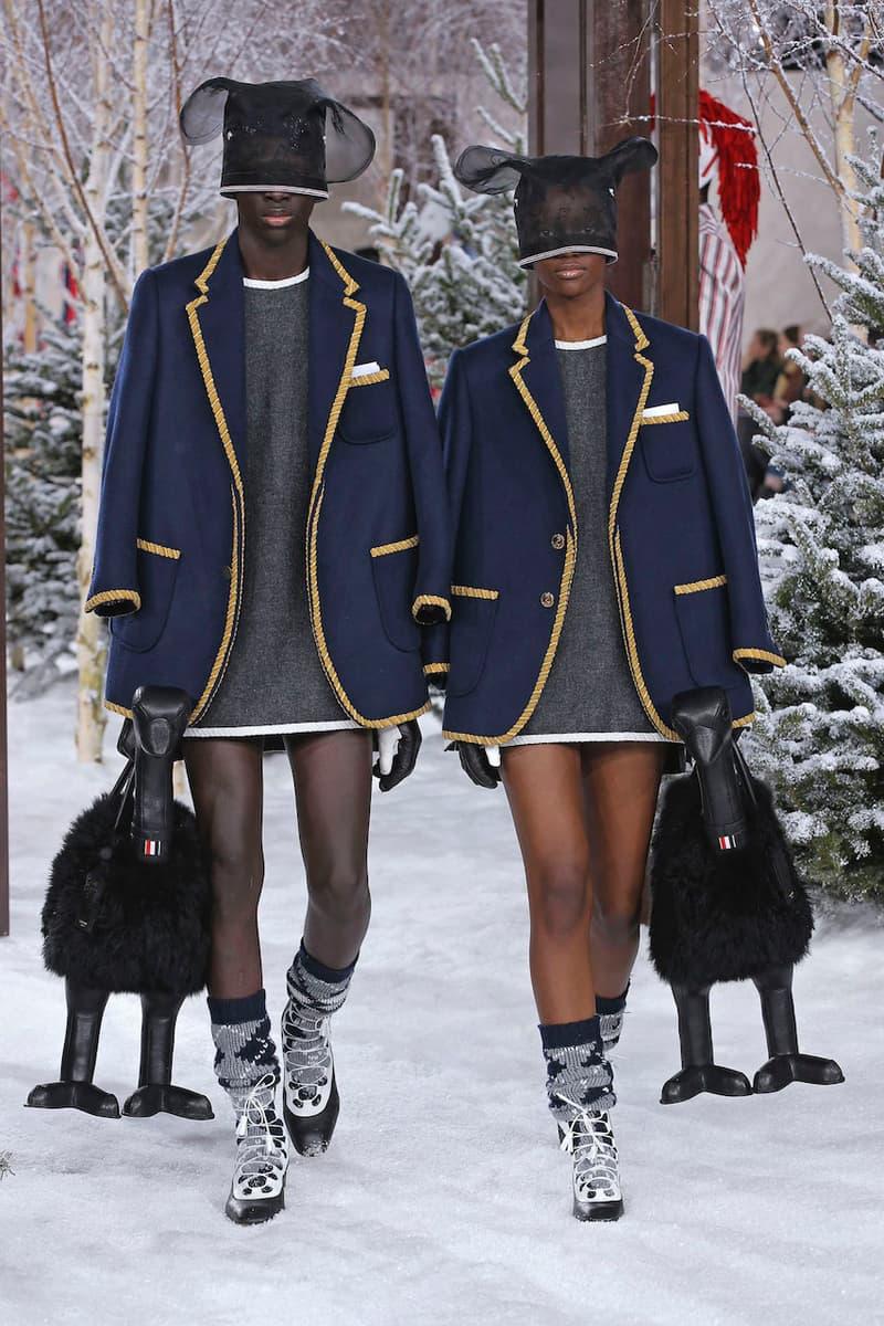 thom browne runway collection paris fashion week