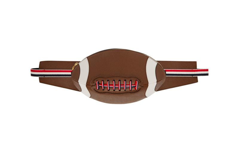 Thom Browne Football Bum Bag menswear streetwear spring summer 2020 collection new york city sartorial leather pebble grain american tri color rwb ripstop metallic hardware