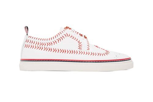 Thom Browne Drops Longwing Baseball Brogue Sneakers