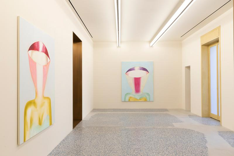 "Tomoo Gokita ""Game Over"" Milan Exhibition Massimo De Carlo Gallery Colorful Paintings Abstraction Figurative Female Form"