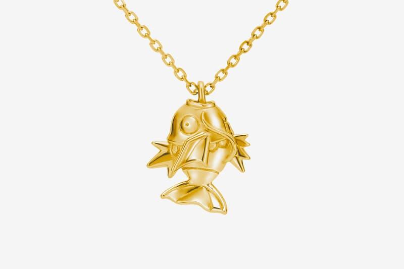 u treasure japan anime pokemon game magikarp silver 18k karat gold necklace 129