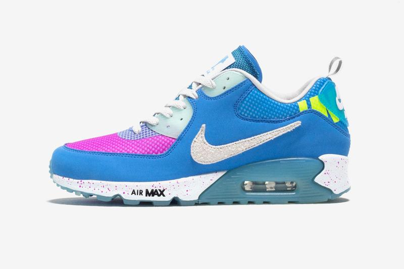 UNDEFEATED Nike Air Max 90 Pacific Blue Official Look Release Info Date Buy Price Day CQ2289-400 Pacific Blue Vast Grey Vivid Purple
