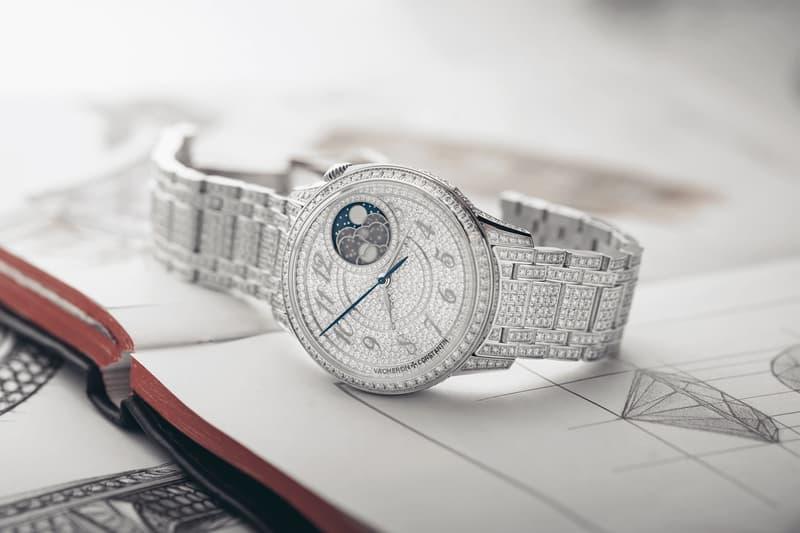 Vacheron Constantin Diamond Égérie Moon Phase Jewelery  diamonds swiss watches complications watches horology pave moonphase