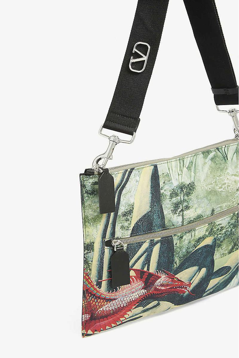 Valentino Bag With Roger Dean Red Dragon Artwork