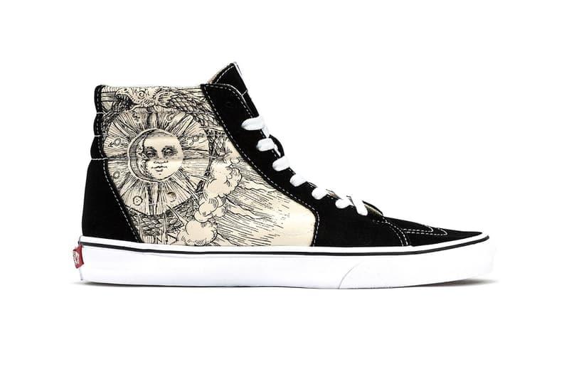 "Vans Sk8-Hi & Era ""Ouroboros"" Release Information Sneakers High Tops Skateboarding Shoes Footwear Graphics Ancient Egyptian Mythology Sun Moon Stars"