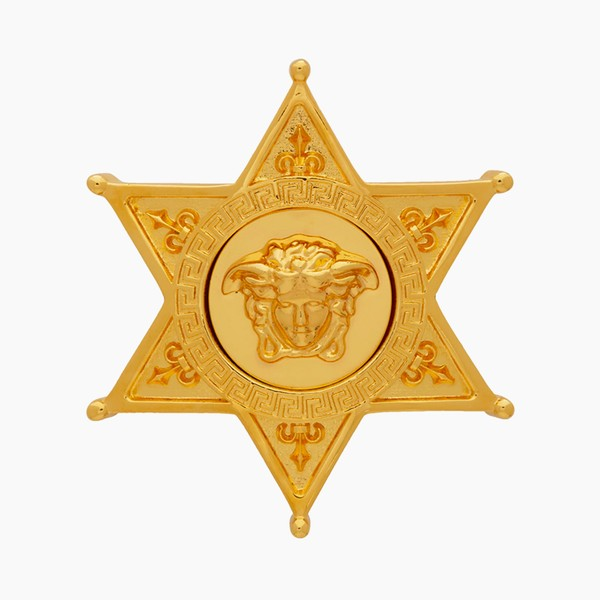 Versace Sheriff Medusa Badge Brooch