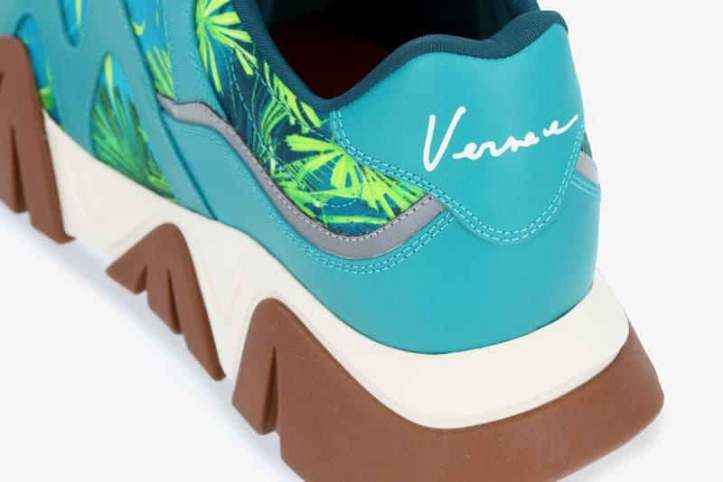 versace jungle print squalo sneaker j lo dress 20th anniversary prints green release ss20 spring summer 2020