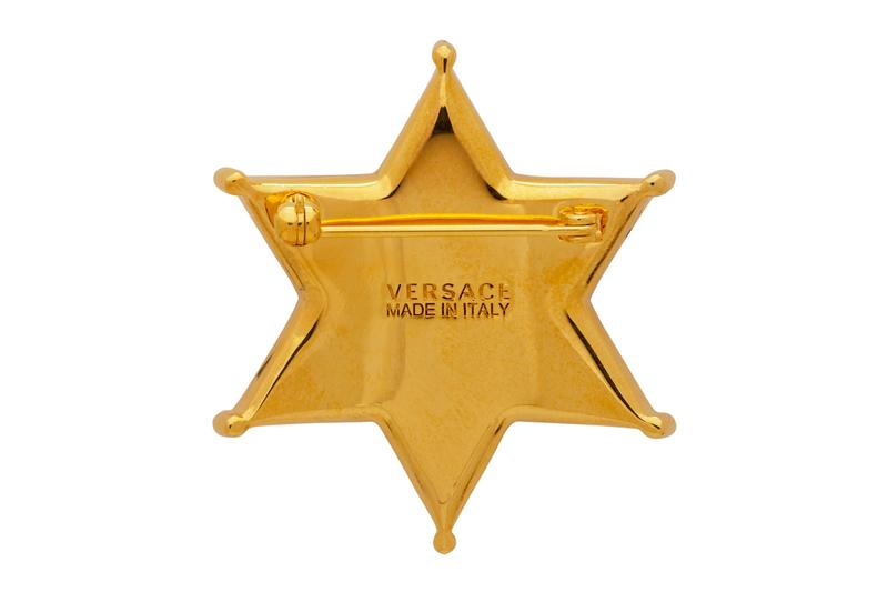Versace Sheriff Medusa Badge Brooch Release Info Gold Buy Price