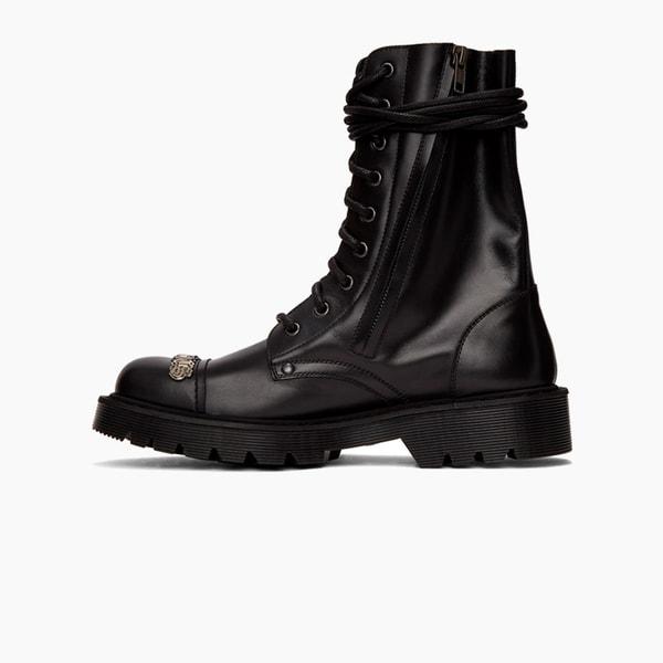Vetements Gothic Logo Combat Boots