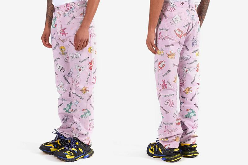 Vetements Pink Multicolored Comic Jeans Release Buy Price The Webster