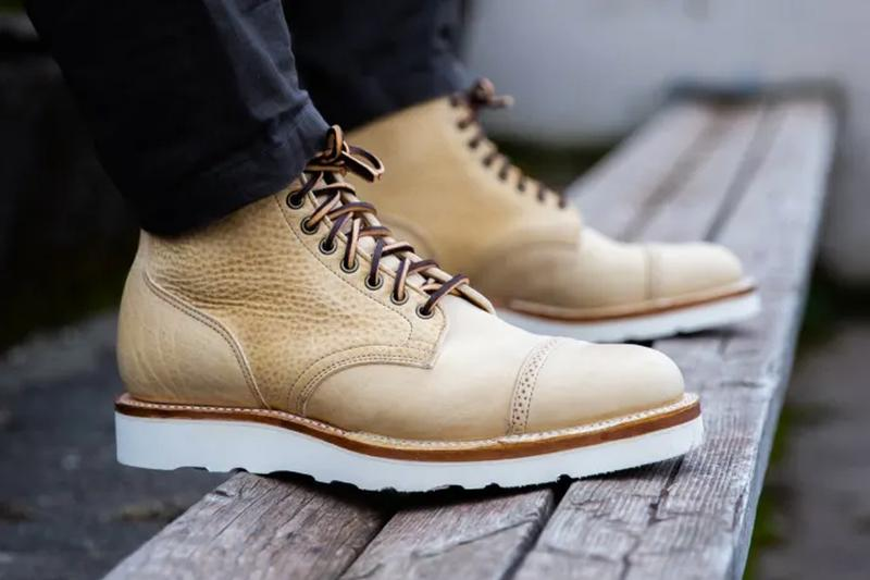viberg natural olive oil tan leather tanning service boots