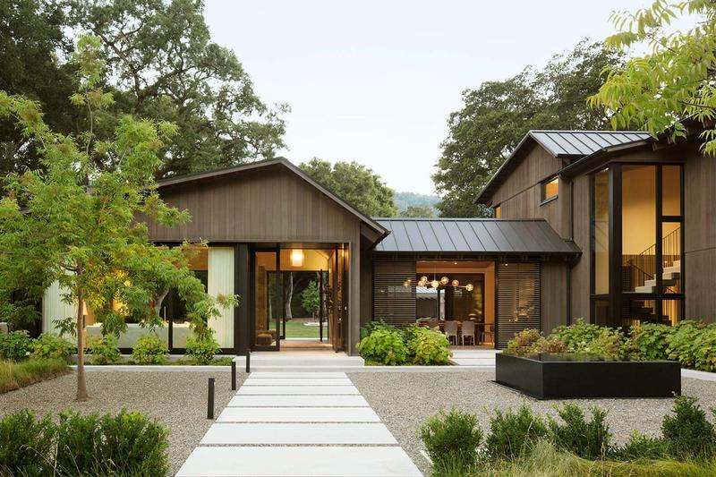 walker warner architects oak woodland house california open space preserve house homes architecture nature