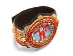 Crystals & Embroidery Details Walter Van Beirendonck's Love Watch Bracelet