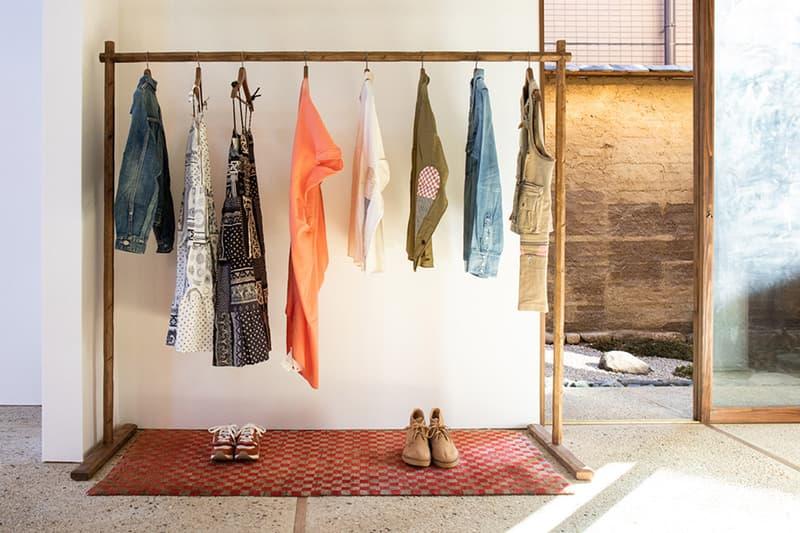 Take a Look Inside WMV Visvim's Tokyo Flagship  interior storefront kelsi nakamura  womens line womenswear arai-dashi ganpishi paper Echizen washi Katazurizome dyeing takehogaki fences zen buddhism design