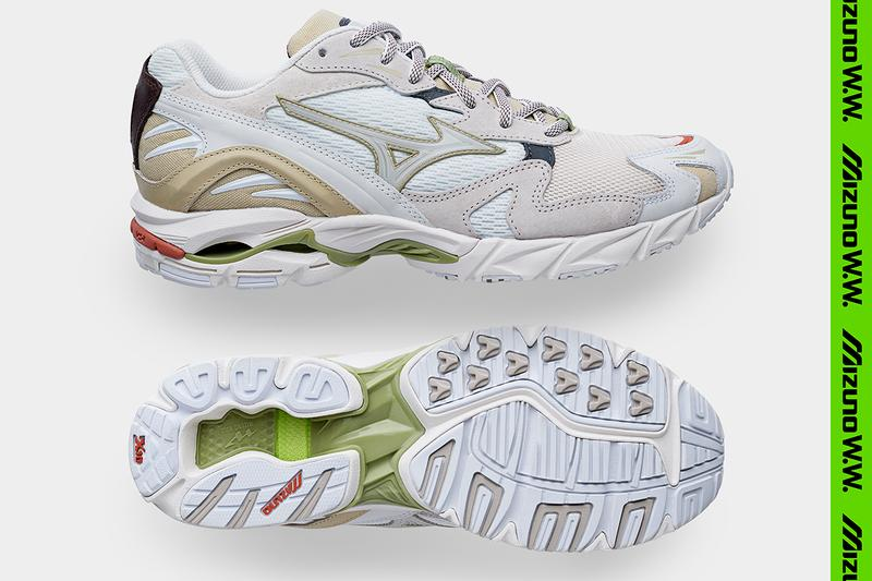 "Wood Wood x Mizuno Wave Rider 10 ""02 Edition"" SS20 Colorway Fall/Winter 2020 Runway Collaboration Sneaker Launch Release Information Exclusive Official First Look Drop Date Stores Japan Copenhagen Tech Retro Runner"