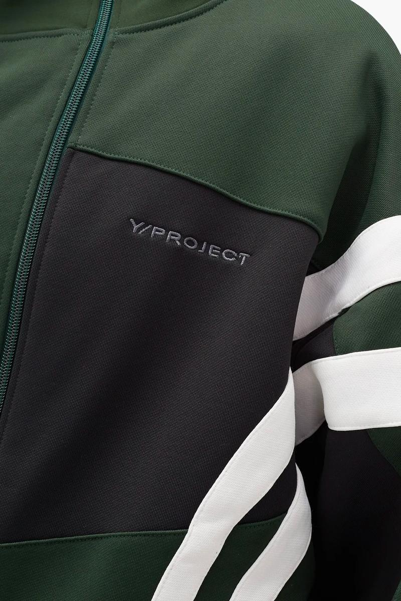 Y Project Deconstructed Asymmetrical Track Jacket menswear streetwear reconstruction spring summer 2020 collection jersey technical breathable functional sportswear nylon