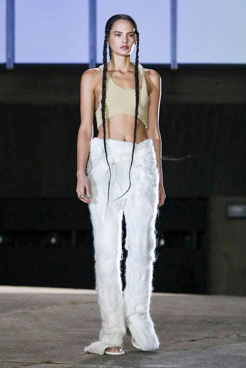 YEEZY Season 8 Collection With Kanye, North West paris fashion week runway show presentation womenswear sandals slide clothing apparel
