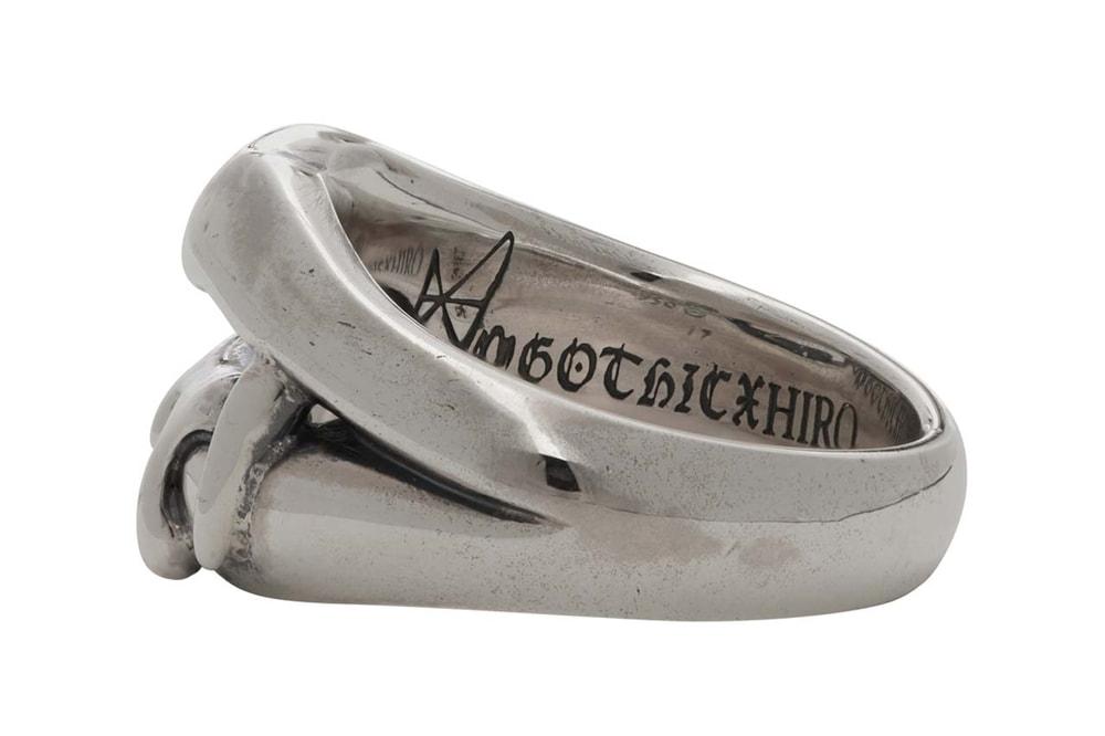 yohji yamamoto silver vampire fang ring vampire blood ring medusa ring 950 sterling silver ss20