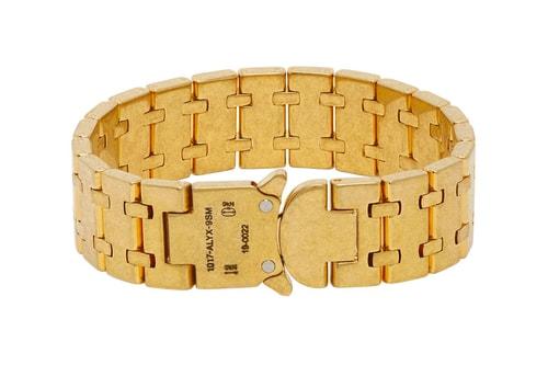 1017 ALYX 9SM's Royal Oak Bracelet Receives an Antique Gold Treatment