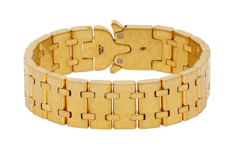 1017 ALYX 9SM Gold Royal Oak Bracelet Release Info Buy Price