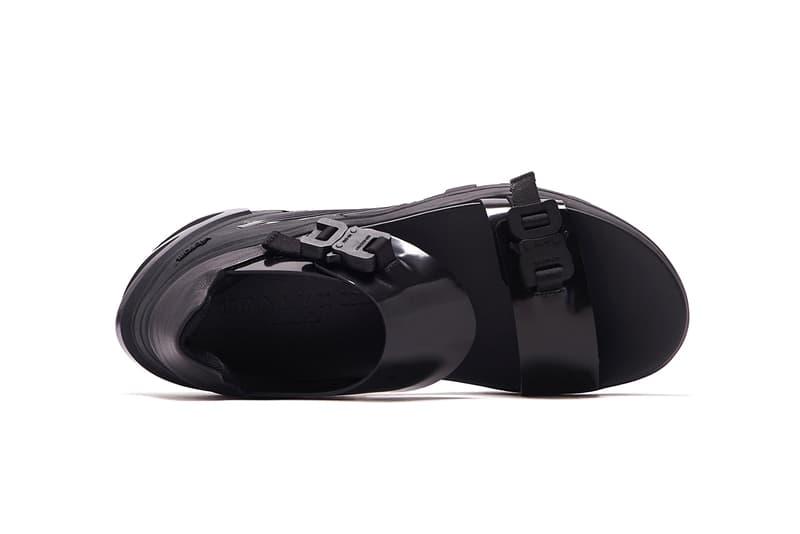 1017 ALYX 9SM studio vibram sandals all black release ss20