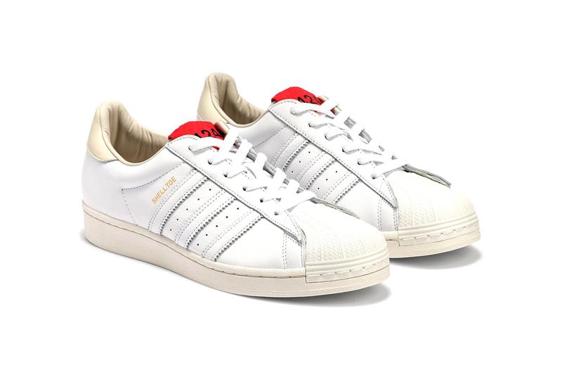 424 x adidas Superstar Shelltoe Release Info sc premiere white red tongue label