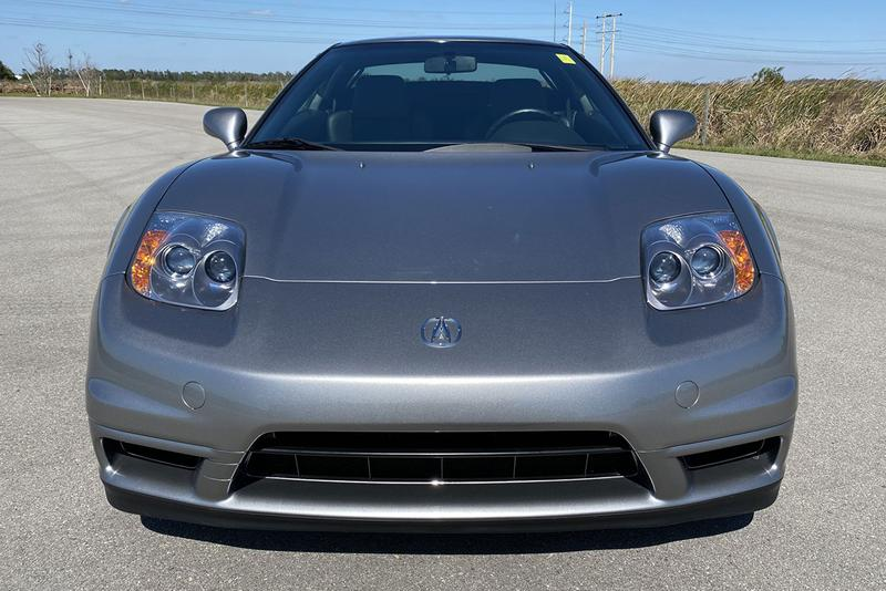 Acura NSX-T 6-Speed 2004 Auction $133,000 Sale price purchase bring a trailer silverstone metallic original