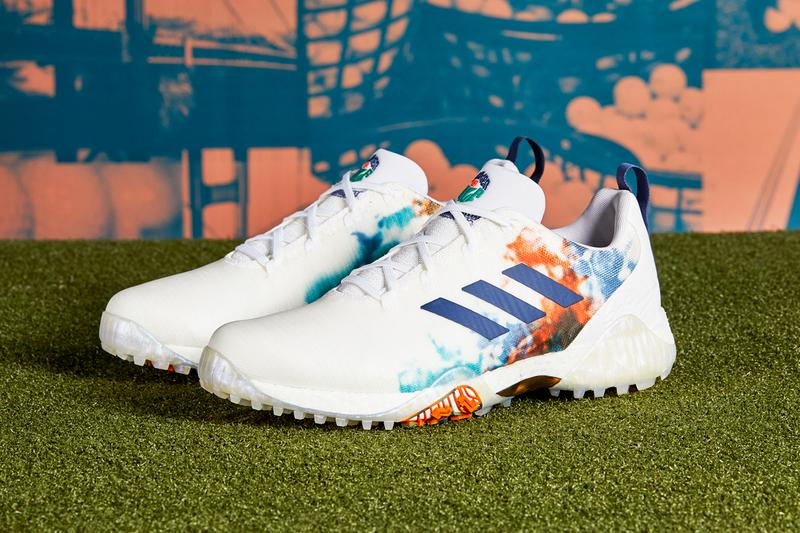 adidas codechaos summer of golf eh2819 cloud white gold metallic tech indigo blue orange release date info photos price