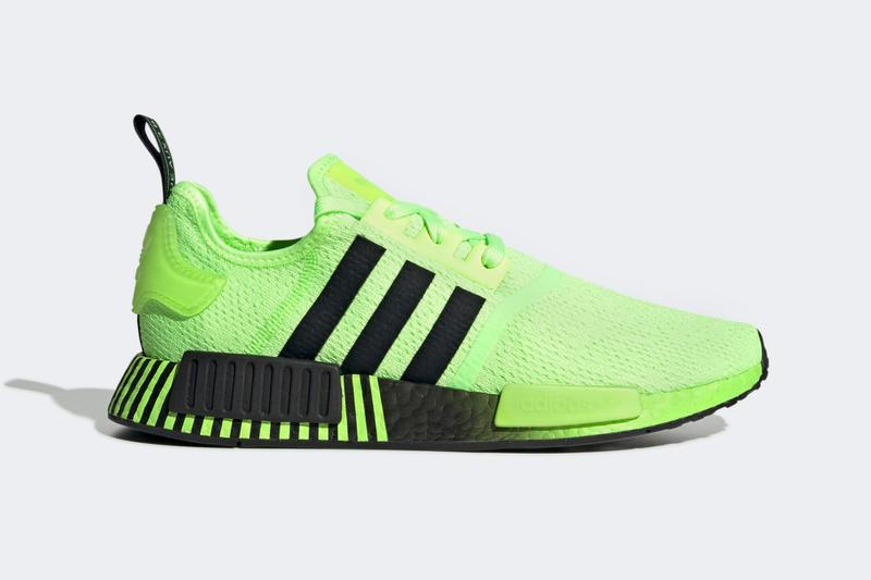 adidas NMD R1 Signal Green Core Black Release footwear kicks volt green Boost adiBoost sneakers hypebeast