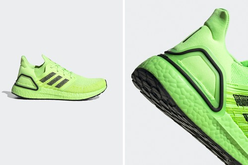 "adidas UltraBOOST 20 Lights Up in ""Signal Green"""