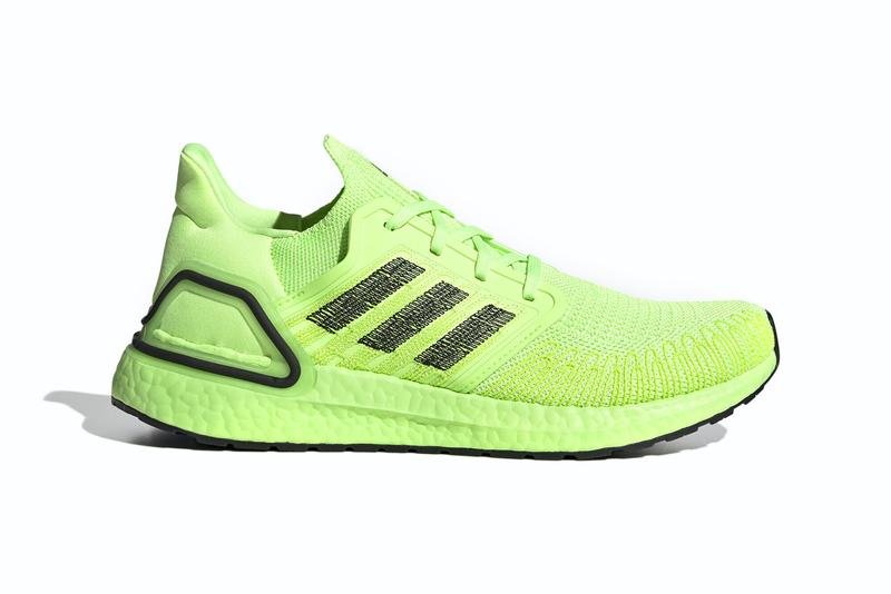 adidas ultraboost 20 signal green core black EG0710 release date info photos price