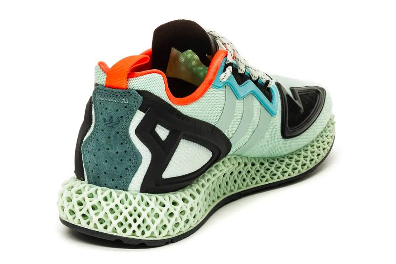 adidas ZX 2K 4D Dash Green FV8500 menswear streetwear spring summer 2020 collection footwear shoes sneakers runners trainers german sportswear lifestyle four dimensional printed midsole dash mint raw FV8500