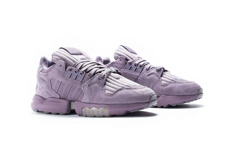 adidas ZX Torsion legacy purple glow orange EF4347 menswear streetwear spring summer 2020 collection shoes sneakers runners trainers three stripes kicks purple suede peach