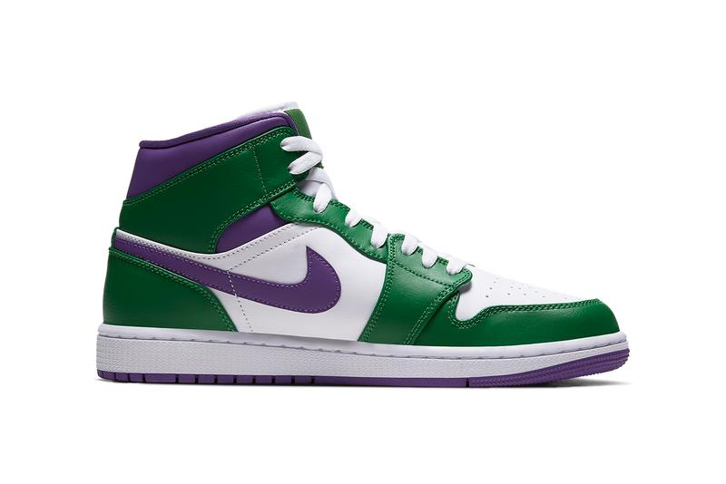 air jordan 1 mid incredible hulk aloe verde white court purple green 554724 300 release date info photos price