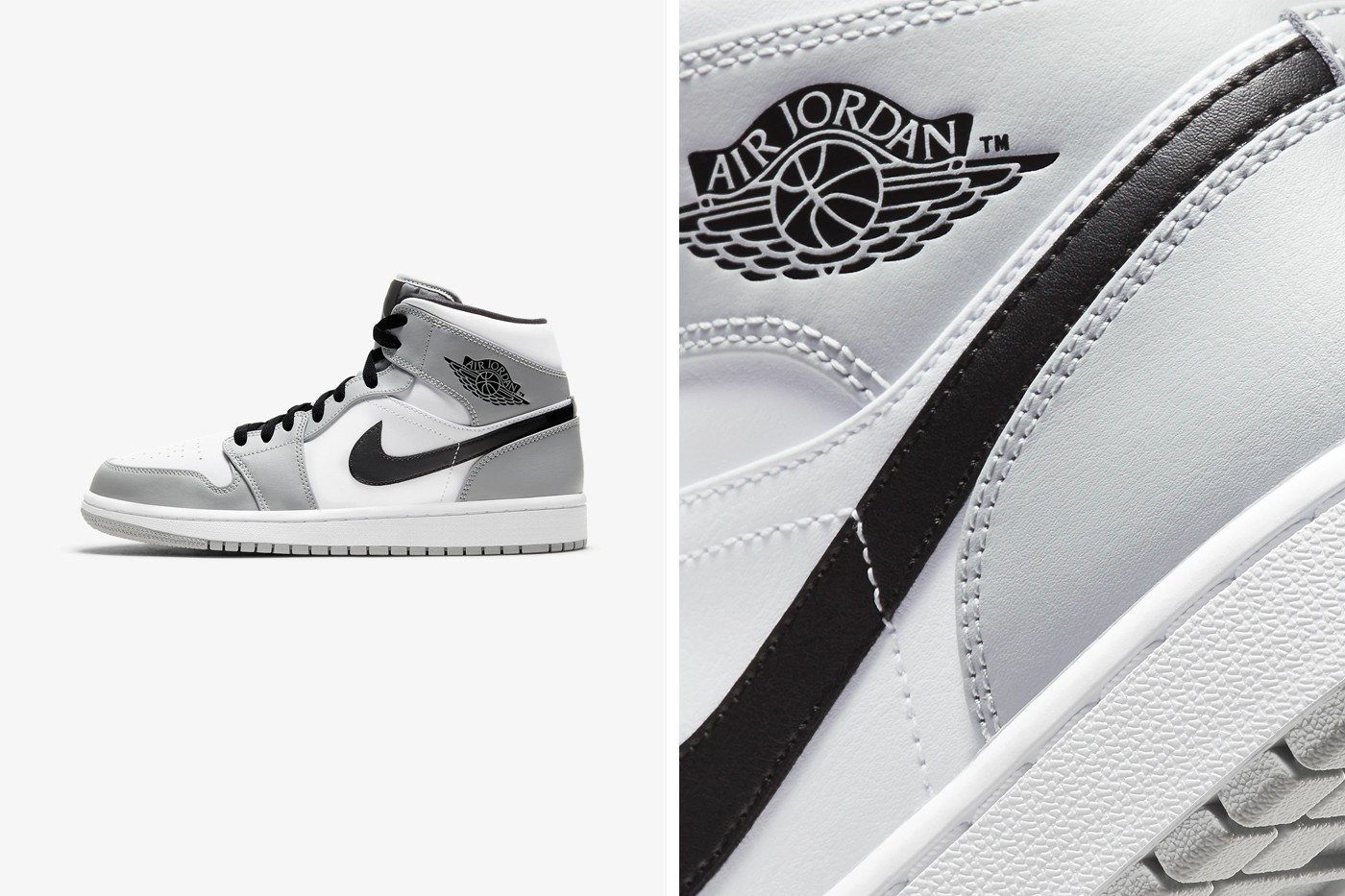 grey black and white jordans