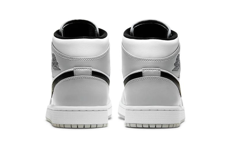 Air Jordan 1 Mid Light Ash White Black Release Info Buy Price 554724-092