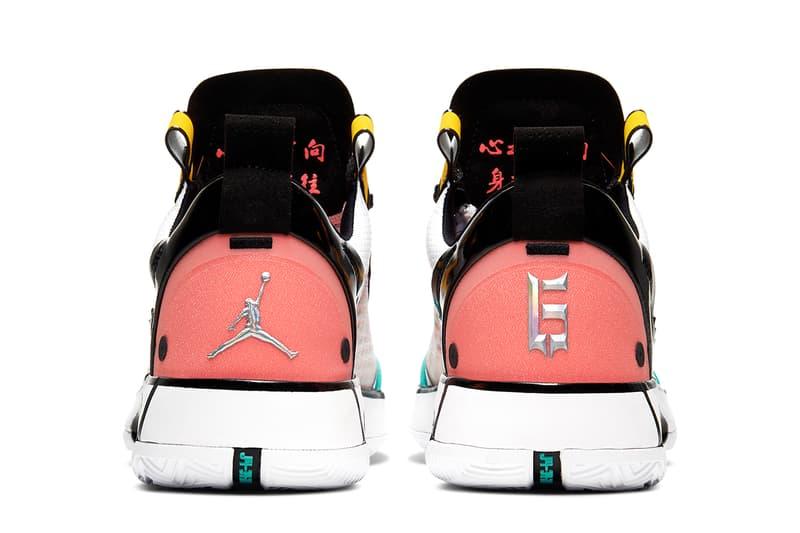 air jordan 34 low guo ailun cmyk CZ7748 100 white green yellow pink black release date info photos price