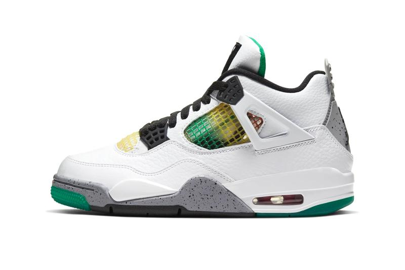 Air Jordan 4 Lucid Green Official Look Release Info AQ9129-100 White University Red Black