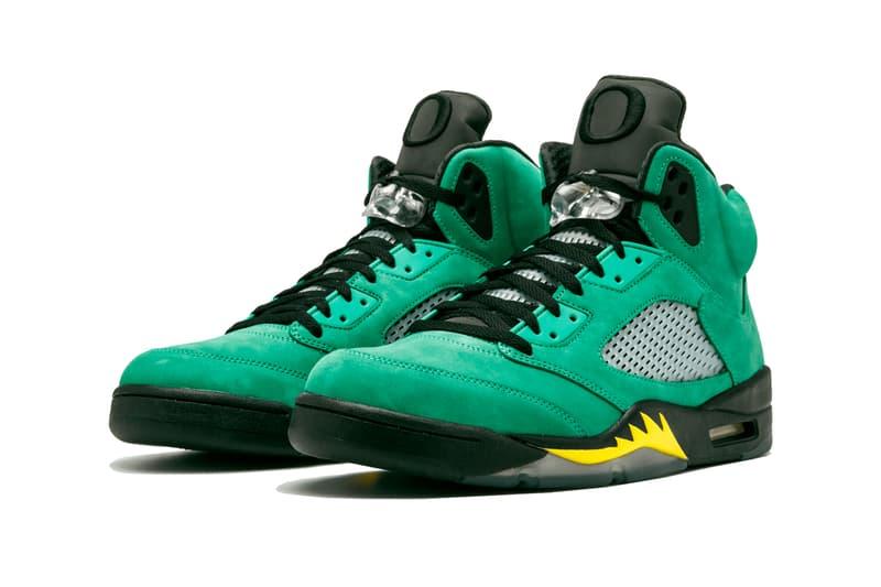 Air Jordan 5 SE Oregon Release Rumor info CK6631-307 Buy Price Apple Green Black Yellow Strike University of