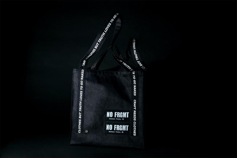 AKA SIX × fragment design NO FRGMT TOTE BAG TATRAS CONCEPT STORE release Jamie Reid sex pistols punk rock CRAFT LOVES CLOTHES BUT TRUTH LOVES TO GO NAKED