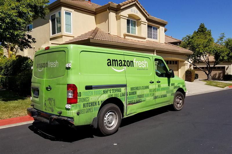 amazon fresh whole foods market stores grocery groceries delivery employees workforce demand waitlist