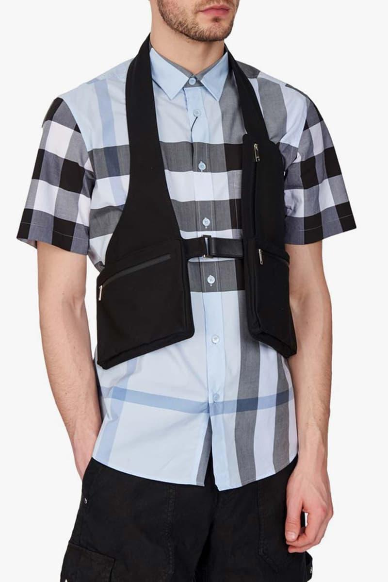 ambush utility jacket harness vest black colorway spring summer 2020 flap pocket details zipper pockets buckle closure